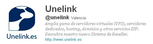 Unelink está presente en twitter