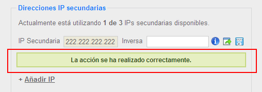 IP movida correctamente