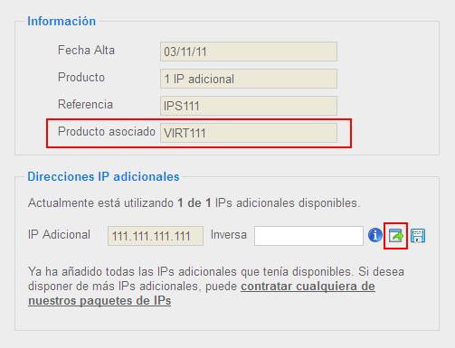 Mover IP desde direccionamiento IP