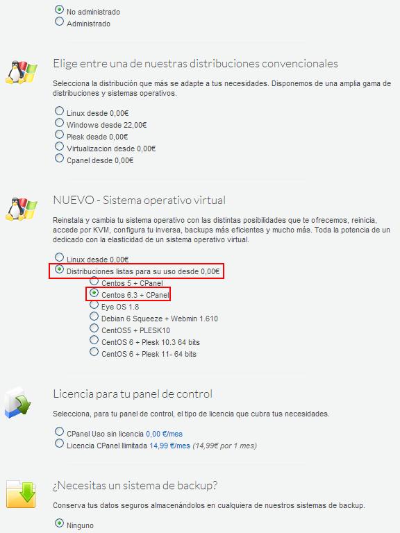 CentOS en sistema operativo virtual