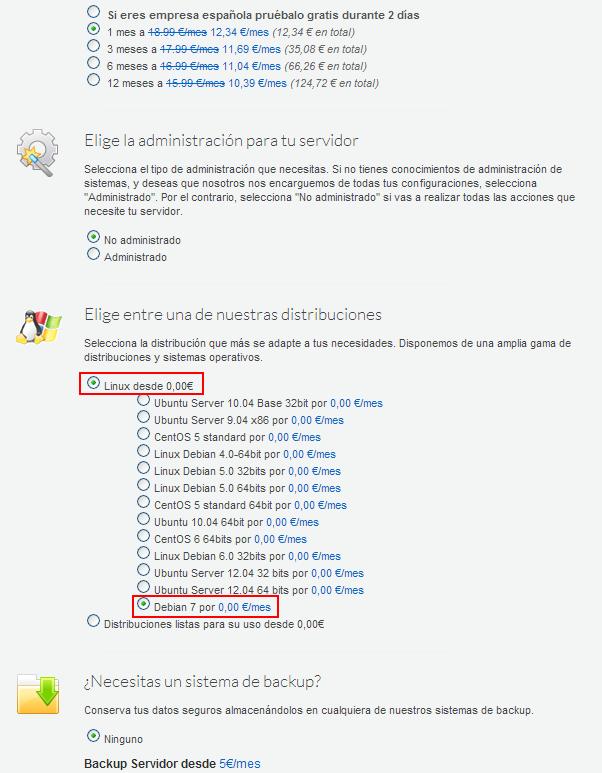 Debian 7 disponible en los VPS