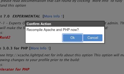 easyApache - Recompilar Apache y PHP