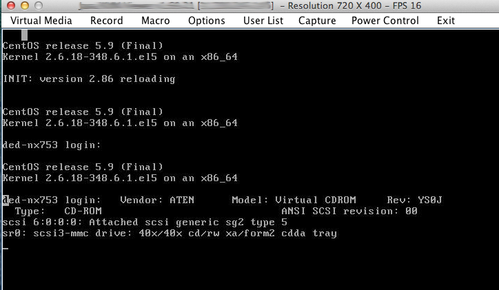 KVM con ISO cargada