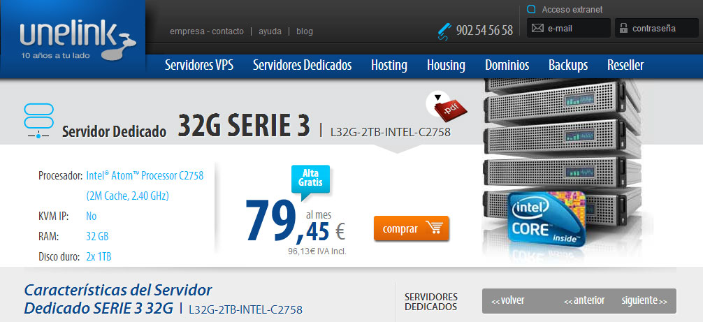 Servidor dedicado L32G-2TB-INTEL-C2758