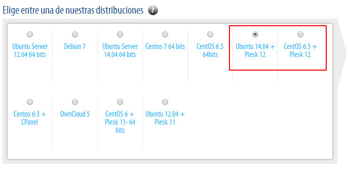 Distribuciones Plesk 12