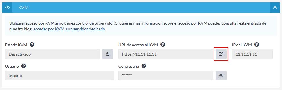 Acceso KVM