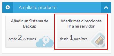 Contratar direcciones IP adicionales