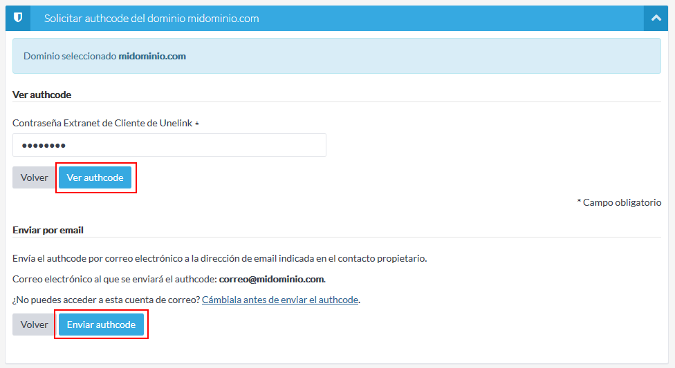 Formas de consultar el authcode