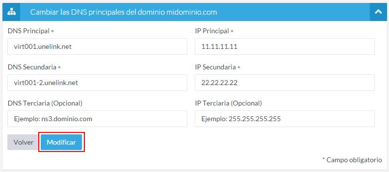 Modificar DNS