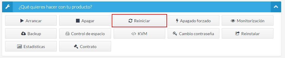 Reiniciar VPS