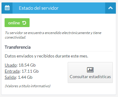 Transferencia servidor