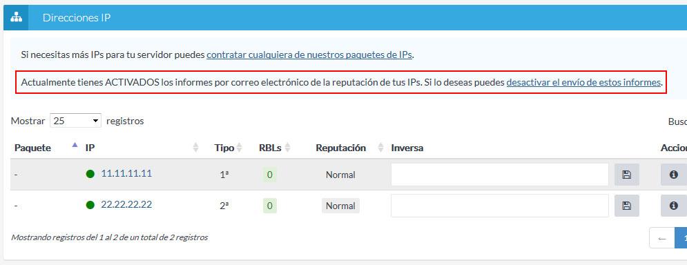 IPs desde ficha de productos