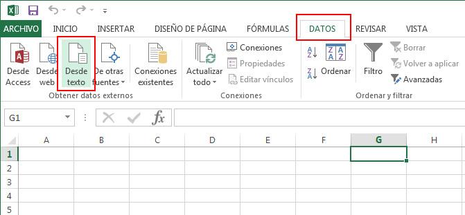 Importar desde Excel