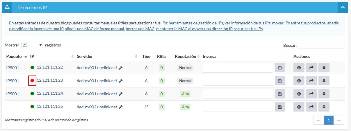 IP desactivada