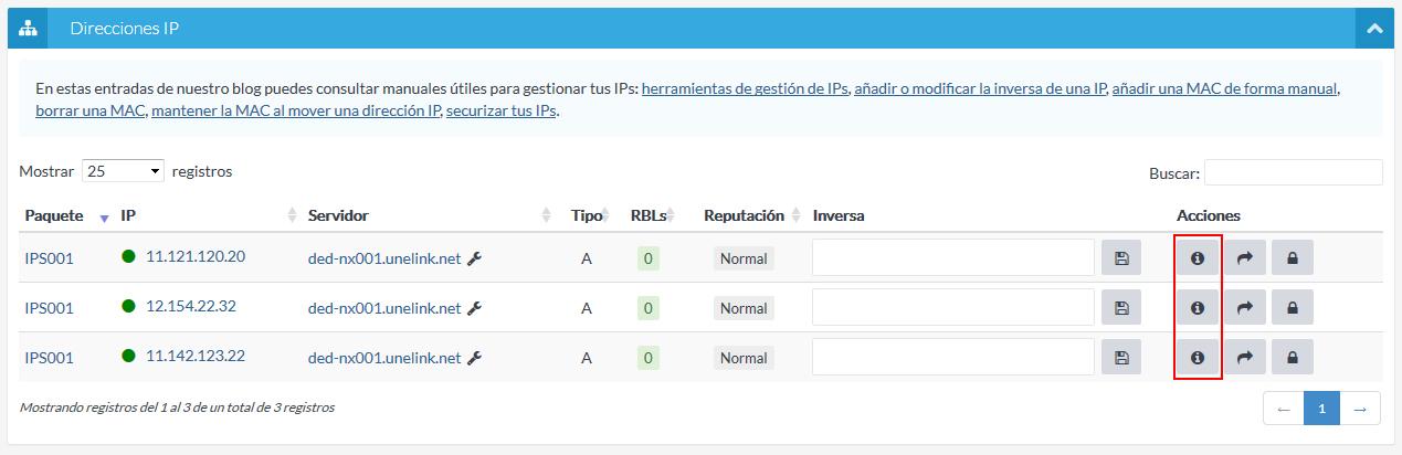 Ver IP desde listado