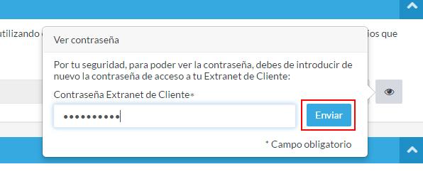 Introducir contraseña Extranet de Cliente