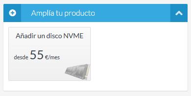 Amplía con disco NVMe