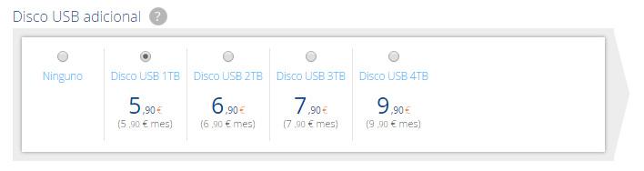 Compra disco USB