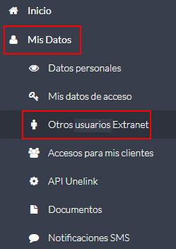 Otros usuarios Extranet