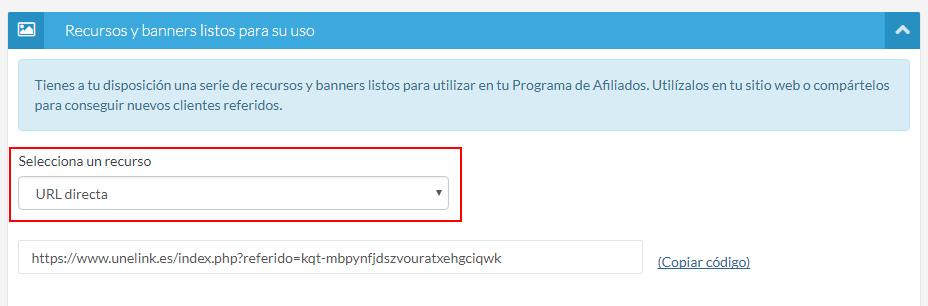 URL Programa de Afiliados