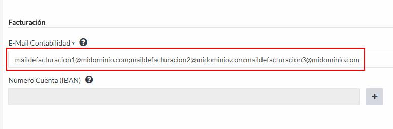 Varios mails de facturación