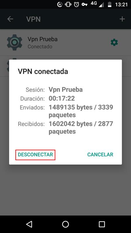 Información de la VPN