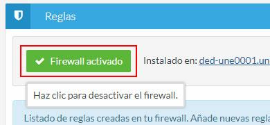 Desactivar/activar firewall