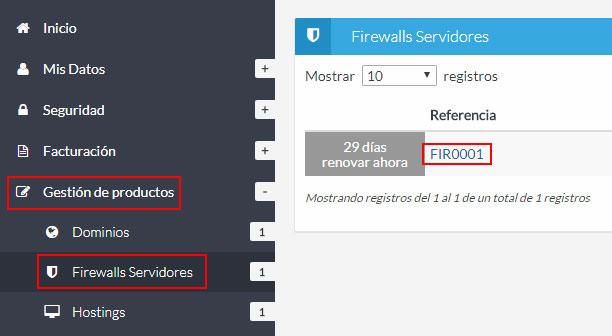Listado firewalls