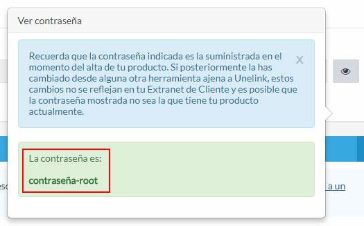 Contraseña root