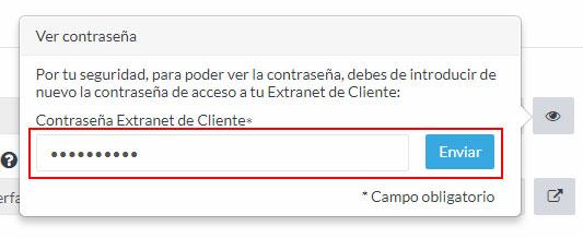 Contraseña Extranet de Cliente