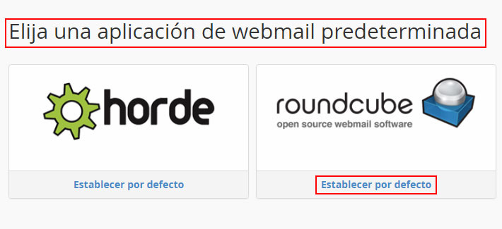 Elegir Webmail