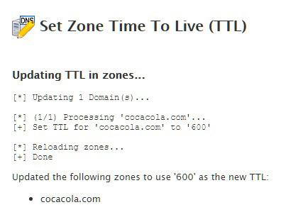 TTL cambiado