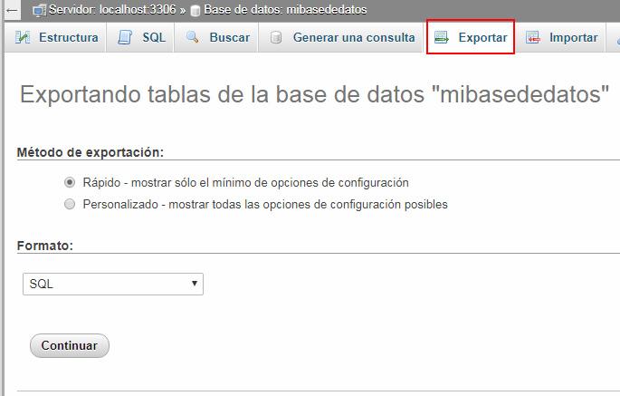 Herramientas de bases de datos