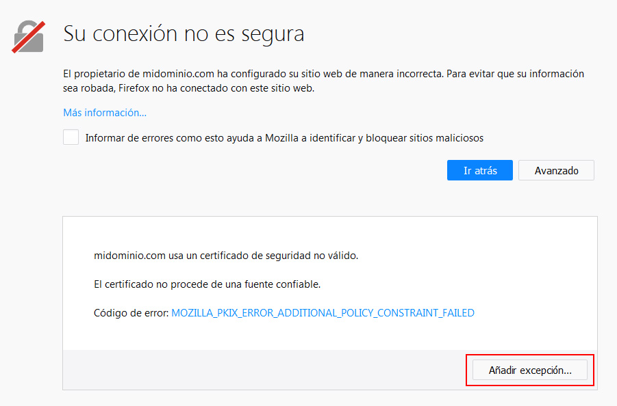 Opciones avanzadas (Firefox)