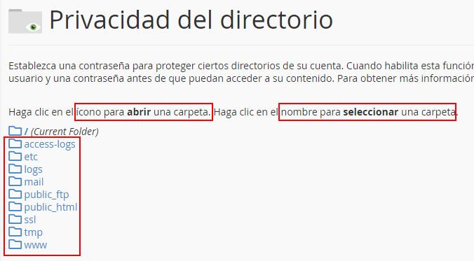 Listado de directorios