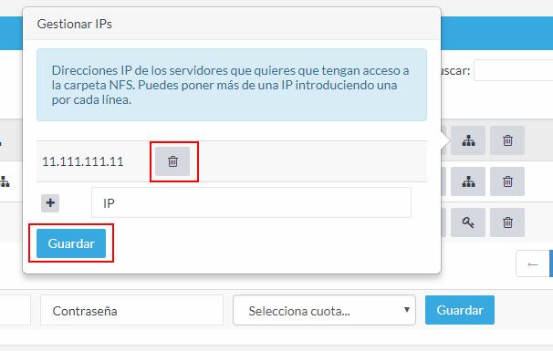 Gestionar IPs