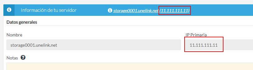IP VPS Storage con UnelinkOS