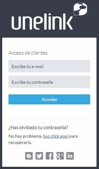 Acceso Extranet de Clientes