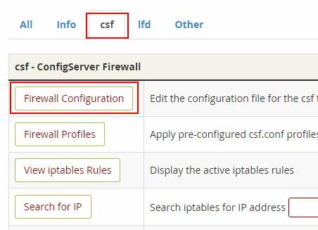 Configuración CSF