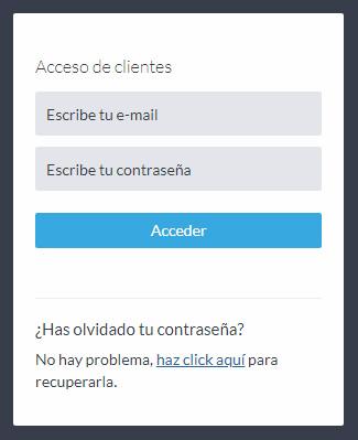 Acceso para tu cliente