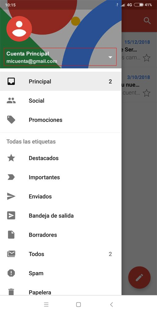 Cuentas Gmail