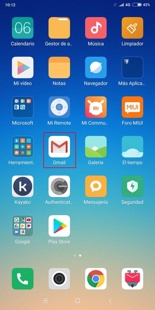 Pantalla Android