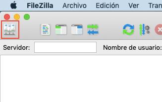 Pantalla principal FileZilla