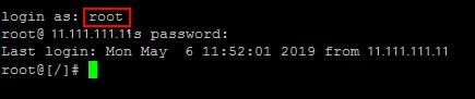 Acceso SSH