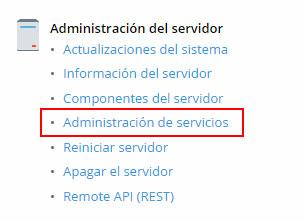 Administración de servidor