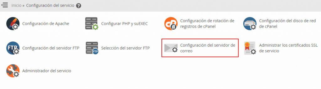 Configuración del servidor