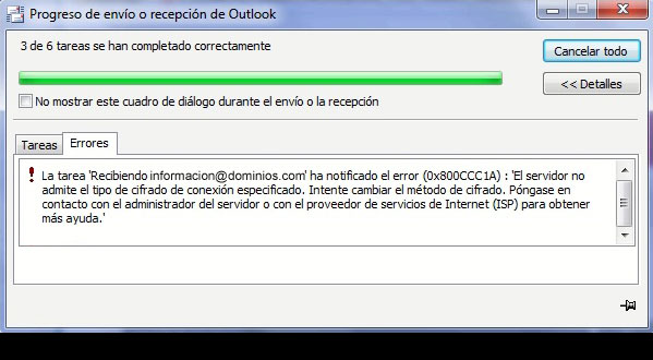Error Outlook