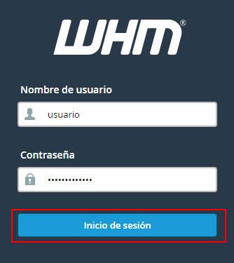Acceso WHM